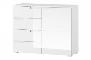 Selene 5 comoda white high gloss/white