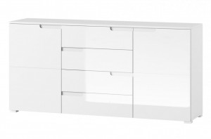 Selene 8 comoda white high gloss/white