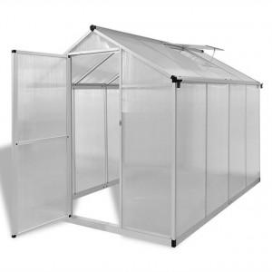 Seră din aluminiu ranforsat cu cadru la bază, 4,6 m²