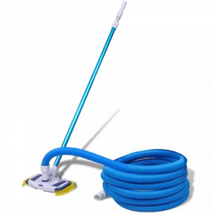 Set curățare piscină vacuum cu tub telescopic și furtun
