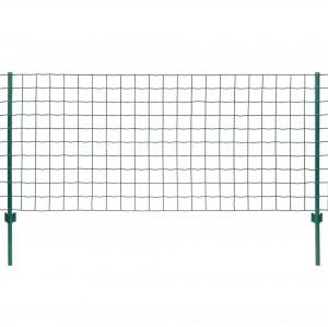 Set de gard Euro, 20 x 1,2 m, oțel, verde