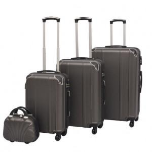 Set de valize cu carcasă tare, antracit, 4 buc.
