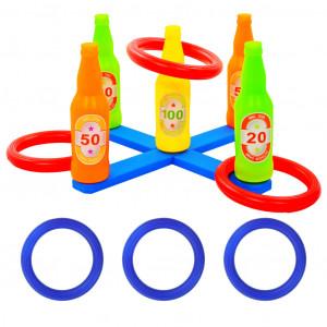 Set joc cu aruncare de inele pentru copii, 42x42x23,5 cm