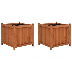 Straturi înălțate, 2 buc., 50 x 50 x 50 cm, lemn de brad