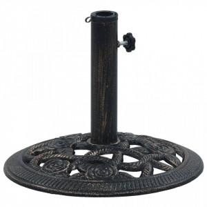 Suport de umbrelă, negru și bronz, 9 kg, fontă, 40 cm