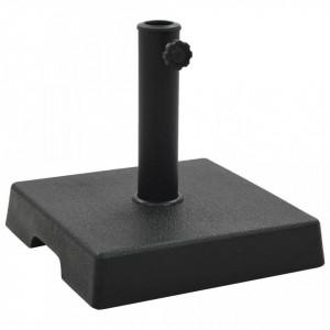 Suport umbrelă de soare, negru, 8 kg, polirășină, pătrat