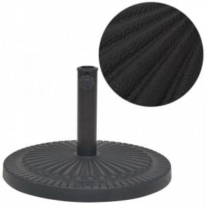 Suport umbrelă de soare, rășină, rotund, negru, 14 kg