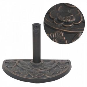 Suport umbrelă de soare, rășină, semicerc, bronz, 9 kg