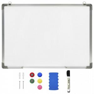 Tablă magnetică albă cu ștergere uscată 90x60 cm oțel