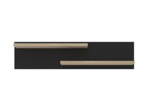 VUSHER 003-1 SHELF POL/110 SONOM OAK/BLACK
