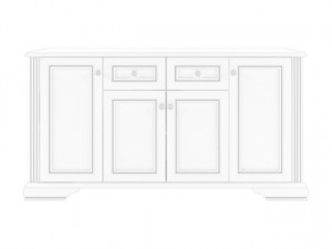 White 009-1 Comoda 4D2S Snowy Ash/Silver Pine