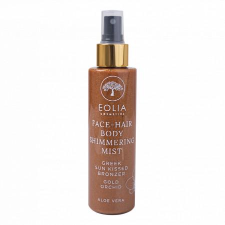 Eolia Spray Hidratant pentru Par si Corp cu Sclipici Fin Auriu si Aroma de Ordidee 150 ml / 5.07 fl. oz