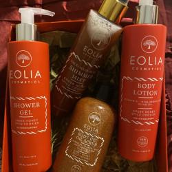 Eolia Spray Hidratant pentru Par si Corp cu Sclipici Fin Auriu si Aroma de Scortisoara si Miere 150 ml / 5.07 fl. oz