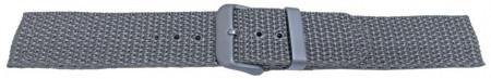 Curea din tesatura de nylon gri 22mm - 58016