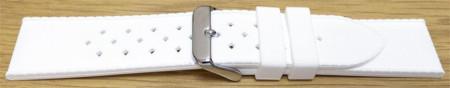 Curea silicon albă model Rolex Tropic 22mm -55813