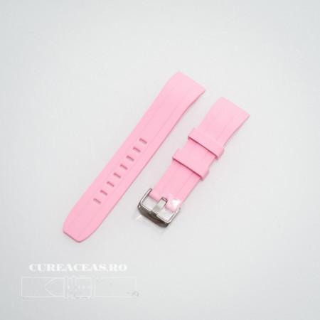 Poze Curea silicon roz capat curbat 22mm - 58405