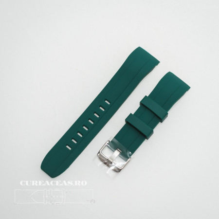 Poze Curea silicon verde capat curbat 22mm - 58401