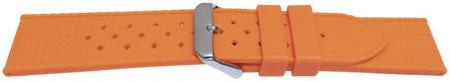 Curea silicon portocalie model Rolex Tropic 22mm -55819