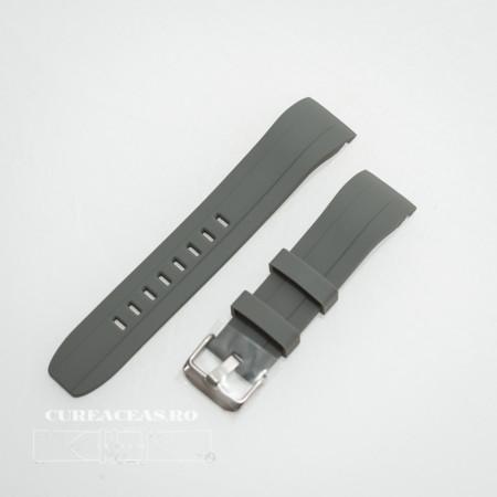 Poze Curea silicon gri capat curbat 22mm - 58402