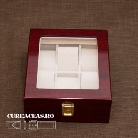 Poze Cutie lemn pentru 6 ceasuri patrată