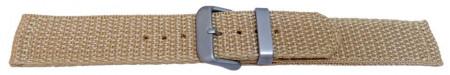 Curea din tesatura de nylon bej 22mm - 58019