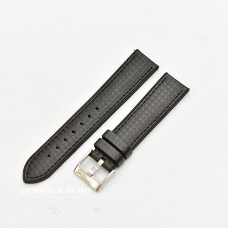 Curea hibrid silicon si piele fibra carbon neagra 22mm - 4000122
