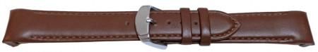 Curea piele lina capat curbat maron 18mm - 58007
