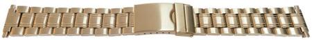 Bratara metalica reglabila aurie capete pe arc 16-22mm - 55007