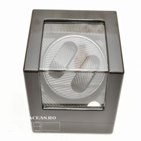 Poze Watch winder pentru doua ceasuri carbon