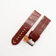 Curea piele maro roșcat model crocodil vintage QR 22mm - 4030822