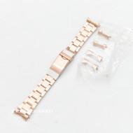 Bratara metalica aur rosu model Rolex Oyster capete curbate 18-22mm - 52427