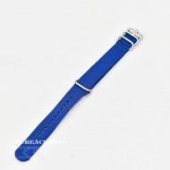 Curea NATO albastră 22mm catarame zulu argintii -4090522