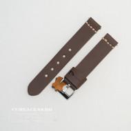 Curea piele maro inchis, vintage, cusătura alba QR 20mm - 3920220