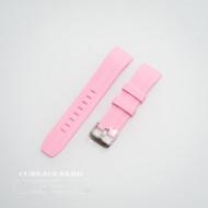 Curea silicon roz capat curbat 22mm - 58405