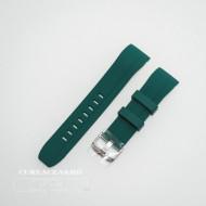 Curea silicon verde capat curbat 22mm - 58401
