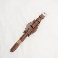 Curea piele vitel tip Fossil maro inchis de 20mm - 3860220