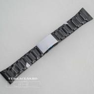 Brățara metalica neagră cu buton lateral 28mm - 58750