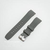 Curea silicon gri capat curbat 22mm - 58402