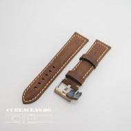 Curea piele maro inchis QR 24mm - 3960224
