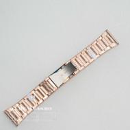 Brățara metalica rose gold cu buton lateral 28mm - 58749