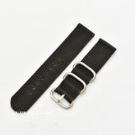 Curea din tesatura de nylon neagra catarame zulu 22mm - 4080122