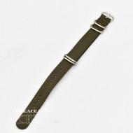 Curea NATO verde inchis 20mm catarame zulu argintii -4092720