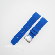 Curea silicon albastră capat curbat 22mm - 58404