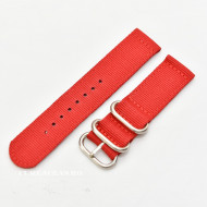 Curea din tesatura de nylon roșie catarame zulu 18mm - 4080618