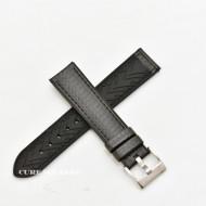 Curea hibrid silicon si piele fibra carbon neagra 24mm - 4000124