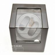 Watch winder pentru doua ceasuri carbon