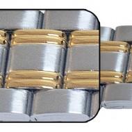 Bratara metalica reglabila bicolora capete pe arc 16-22mm - 55008