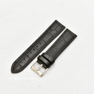 Curea hibrid silicon si piele model crocodil neagra 20mm - 4200120