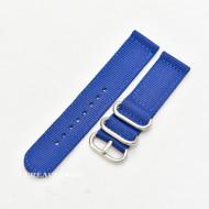 Curea din tesatura de nylon albastră catarame zulu 20mm - 4080520