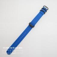 Curea NATO albastra 20mm catarame zulu negre -52976
